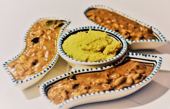 Schnelles veganes Curry mit weißen Bohnen.